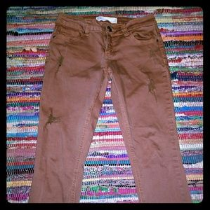 Rust colored Crops Sz.  3